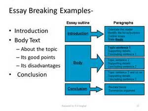 Essay Structure Exles by Essay Breaking Exles Sliderbase