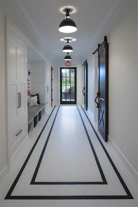 black hex border floor tiles design ideas