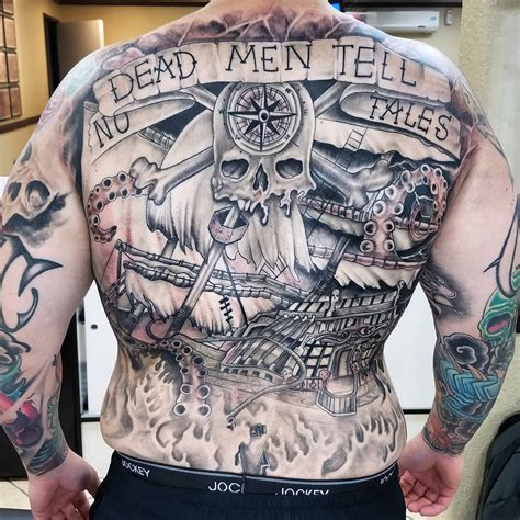 tattoo back ship 95 best pirate ship tattoo designs meanings 2018