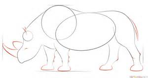 how to draw a realistic rhino how to draw a realistic rhino step by step drawing tutorials