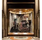 PRADA Enormous Floral Suitcases Christmas Window Display