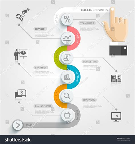 workflow timeline template business timeline infographic template vector