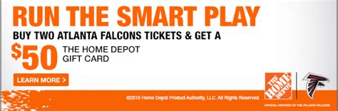 the home depot smart play pack atlanta falcons tickets