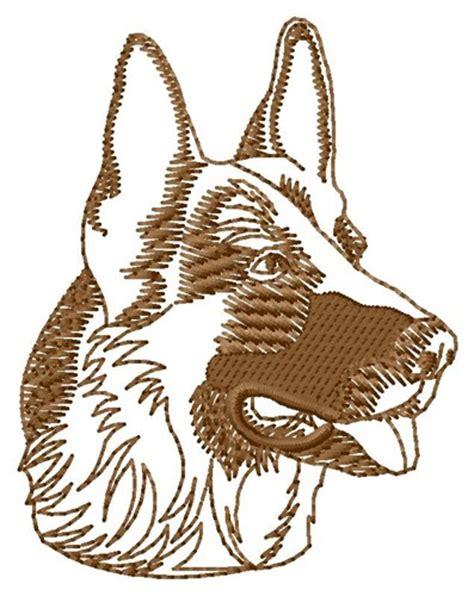 embroidery design german shepherd shepherd head outline embroidery design annthegran