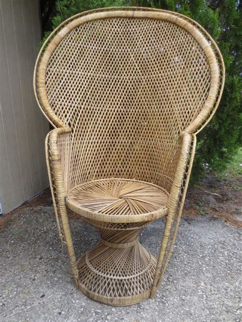 tall wicker scroll work chair victorian shabby chic beach