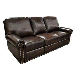 Brown Leather Recliner Sofas Fairfield Leather Reclining Sofa