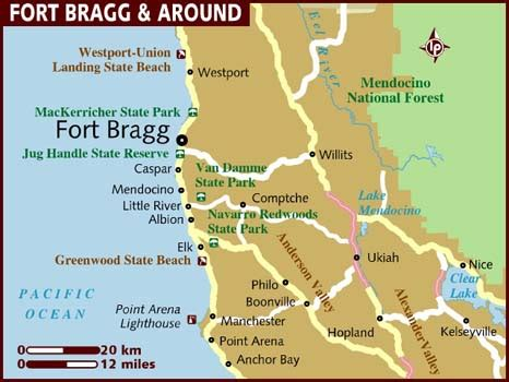 california map fort bragg fort bragg ca