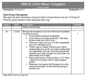 it issue log template issue log template log templates