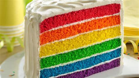 layered rainbow rainbow layer cake recipe tablespoon com