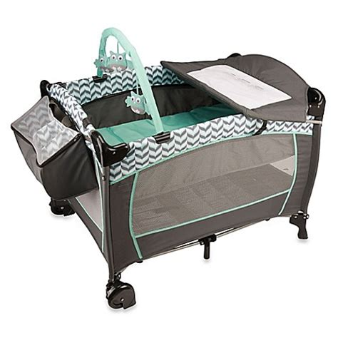 Evenflo Changing Table Buy Evenflo 174 Portable Babysuite 174 Deluxe Playard In Spearmint Spree From Bed Bath Beyond