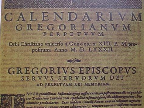 Le Calendrier Gregorien 15 Octobre 1582 Entr 233 E En Vigueur Du Calendrier