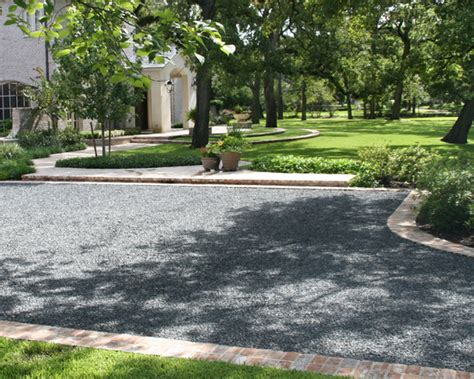Patio Driveway Designs Black Gravel Home Design Ideas Pictures Remodel And