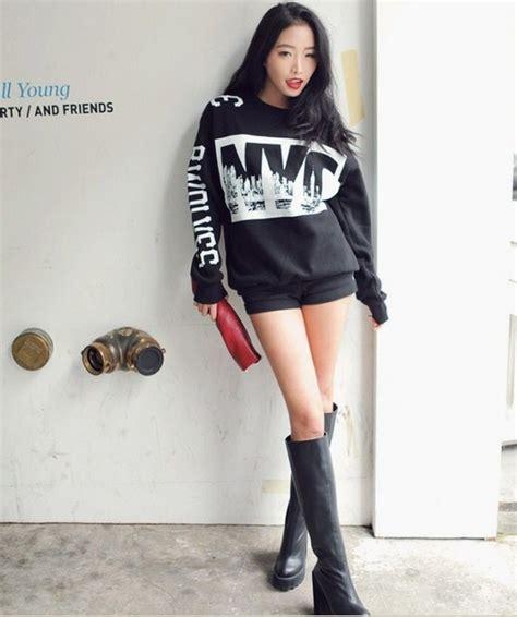 aliexpress buy softdegree hair 2015 new korean style long femmes chaudes sweatshirts mode cor 233 enne nyc stylenanda