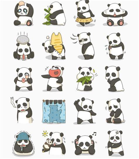 Sticker Panda line stickers community free fatty the panda sticker