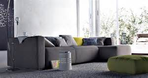 Galerry design ideas with grey sofa