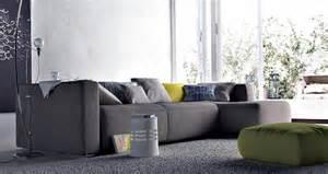 modern living room design gray sofa