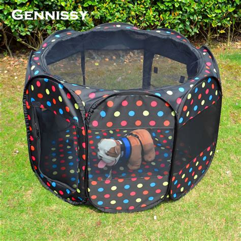 in house dog fence portable folding pet tent playpen dog fence quality travel garden fence dog exercise
