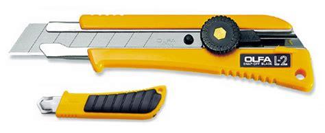 Cutter Lipat Anti Slip Disposable olfa l 2 heavy duty cutter with an anti slip rubber grip