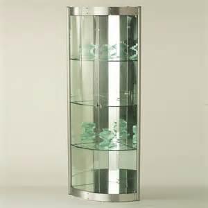 Mirrored Corner Curio Cabinet Corner Curio With Mirrored Interior Silver Storage