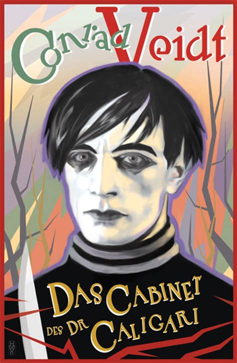 Cabinet Of Dr Caligari Poster by Conrad Veidt Cabinet Of Dr Caligari Poster Design By