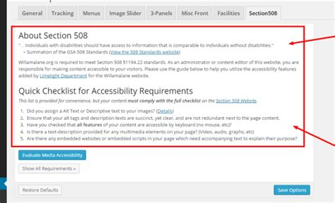 Section 508 Requirements by Ada Section 508 Compliance Tool