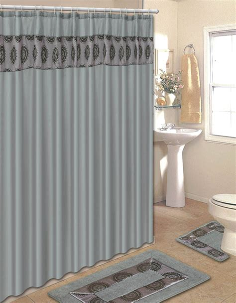 Shower Curtain Sets by Home Dynamix Home Design Shower Curtain And Bath Rug Set