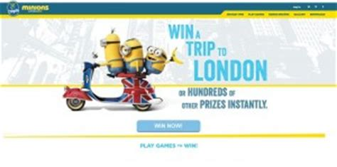 Chiquita Banana Sweepstakes - 5 minions sweepstakes celebrating the minions movie