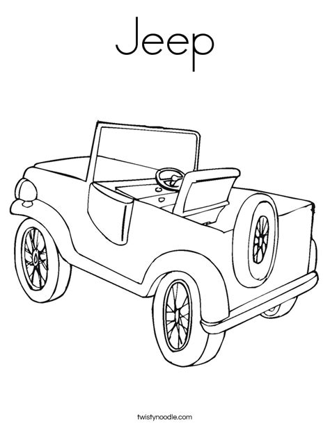coloring page of a jeep jeep coloring page twisty noodle