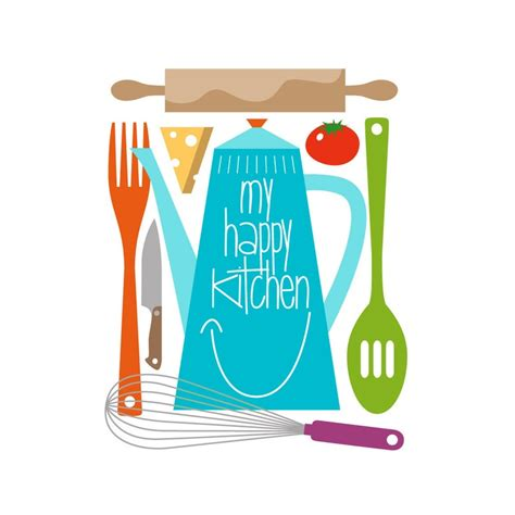 Prints Charming Homestyle For Kitchen Print Retro Child Happy Kitchen Quote Mid Century Modern Colorful