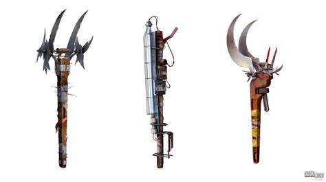 dying light weapons concept art by iloveneilyoung on