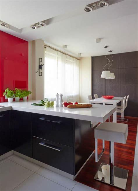Merveilleux Cuisine Rouge Et Noir #1: grande-cuisine-salle-a-manger-moderne.jpg
