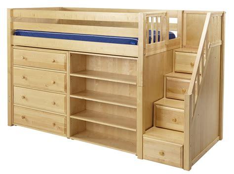 loft bed storage mid loft e staircase storage bedrooms
