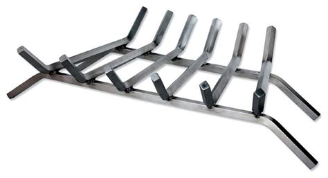Fireplace Andirons And Grates by 6 Bar Fireplace Grate In Stainless Steel 27 Inches