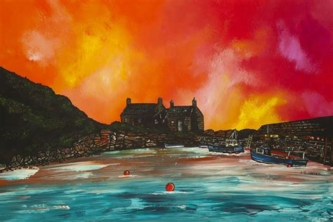 watercolor tattoo artists east coast painting prints of cove bay harbour berwickshire