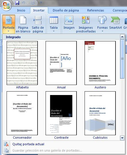 como insertar imagenes a un pdf como insertar una portada en word
