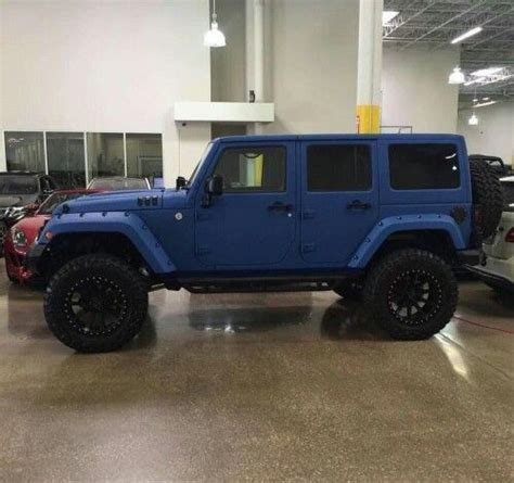 matte blue jeep    fav paint job dream cars
