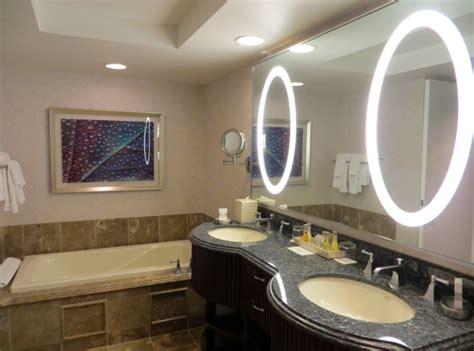 Amazing Nice Bathrooms #2: Original_Bellagio_Las_Vegas_Hotel_Review-Virtuoso_Benefits_and_Hyatt_Points-Fountain_View_Bathroom-Bathtub_Dual_Vanities.jpg
