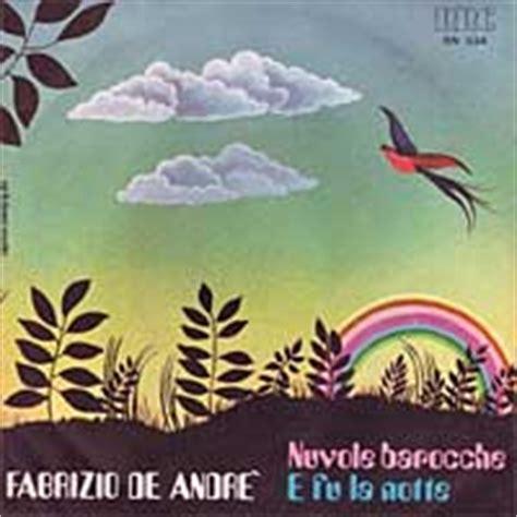 nuvole barocche testo fabrizio de andr 233 gli album