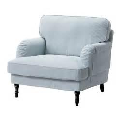 stocksund fauteuil remvallen bleu blanc noir ikea