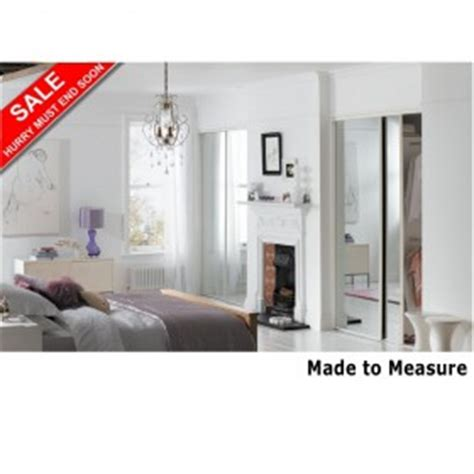 Made To Measure Sliding Mirror Wardrobe Doors by Purchase 3 White Made To Measure Mirror Sliding Wardrobe