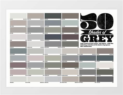 shades of grey color chart the best alternative valentine s gifts for him and her