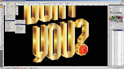 illustrator tutorial gold adobe illustrator tutorial create jewel encrusted gold 3d