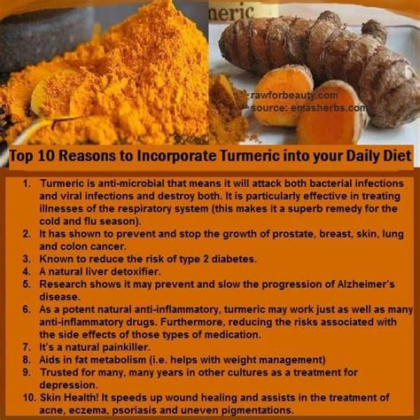 Reasons To Try The Foods Diet by Top 10 Reasons To Incorporate Turmeric Into Your Daily