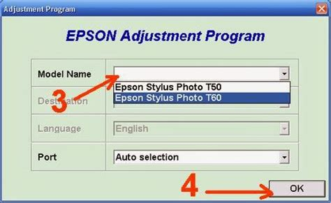 reset t60 software tutorial it epson t60 blink reset