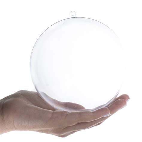 Clear Acrylic Ornaments - 120mm clear acrylic fillable ornament acrylic