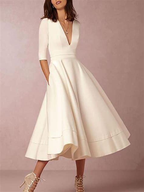 High Waist Pleated Dress v neck high waist pleated swinging maxi dress