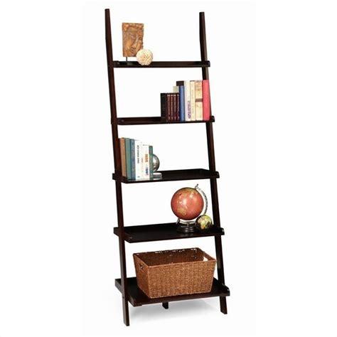 american heritage ladder bookshelf in espresso 8043391 es