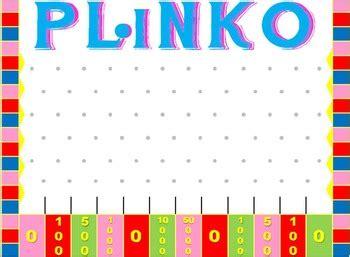 Plinko Game Template For Powerpoint By Mrs Twin Mommy Tpt Plinko Board Template