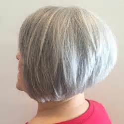bob hair cuts for 59 with grey hair old lady hairstyles graduated gray bob for over 60