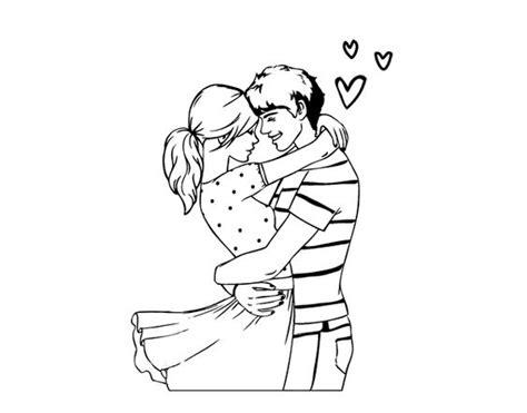 imagenes tumblr para colorear dibujo de pareja enamorada para colorear love love